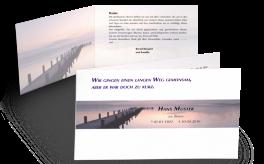 Trauerkarte Brücke der Erinnerung